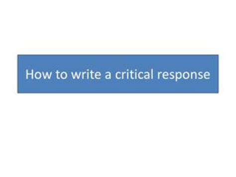 Writing a critical lens essay powerpoint WASPE